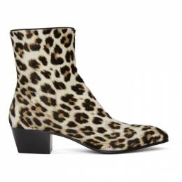 Christian Louboutin Black and White Pony Jolly Boots 1200489