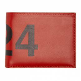 424 Red Leather Wallet 424M SS20050