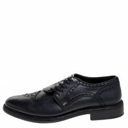Burberry Black Brogue Leather Rayford Derby Size 43 278451