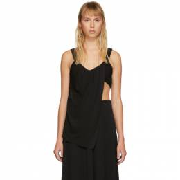 Proenza Schouler Black Draped Tank Top R2024001-00200