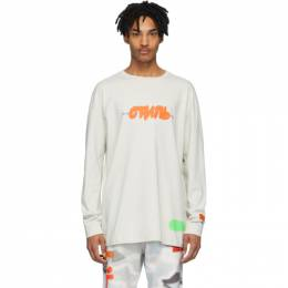Heron Preston Grey Spray Style Long Sleeve T-Shirt HMAB005S209130270588