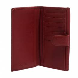 Dior Red Leather Continental Wallet 281228