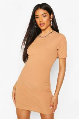 Recycled Cap Sleeve Rib Bodycon Dress Boohoo FZZ68316-111-22