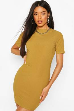 Recycled Cap Sleeve Rib Bodycon Dress Boohoo FZZ68316-151-24