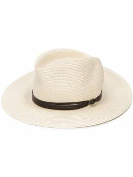 Eleventy leather ribbon detail hat A80CPLA03TES0A153