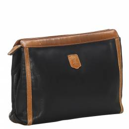 Celine Black Calfskin Leather Clutch Bag