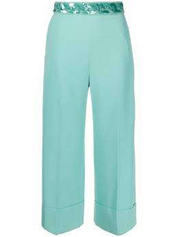 Elisabetta Franchi sequinned belt trousers PA33302E2