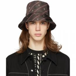 Fendi Brown Karligraphy Bucket Hat FXQ801 AAGN