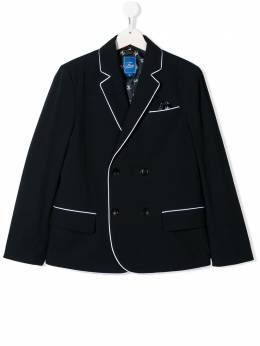TEEN contrast trimmed double-breasted blazer Fay Kids 5M2034MD070
