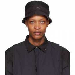 Black Panelled Data Administrator Bucket Hat C2H4 R001-D014