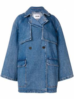 MSGM hooded denim coat 2541MDC41L184796