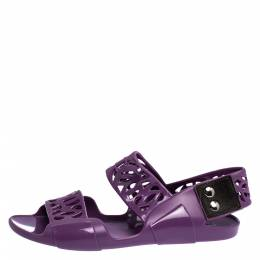 MARNI Purple Jelly Slingback Sandals Size 36