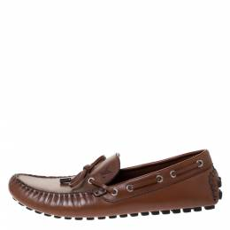 Louis Vuitton	 Brown Leather Arizona Moccasin Size 42