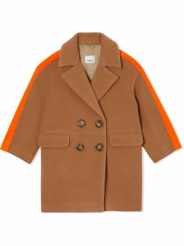 Burberry Kids пальто в стиле колор-блок 8022223