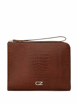 Giuseppe Zanotti Design	 embossed croc-effect clutch bag EBU0003005