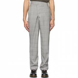 R13 Grey Plaid Crossover Trousers R13M9033-HFP
