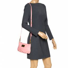 Marc by Marc Jacobs Pink Leather Classic Q Percy Crossbody Bag 286621
