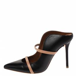 Malone Souliers Black Leather Maureen Mules Size 37 290697