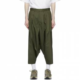 Khaki Technical Cropped Trousers N.Hoolywood 1201- PT08- 041