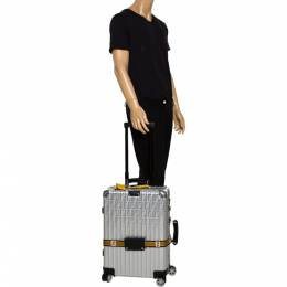 Fendi x Rimowa Black/Yellow Aluminium Cabin Trolley Suitcase 292724