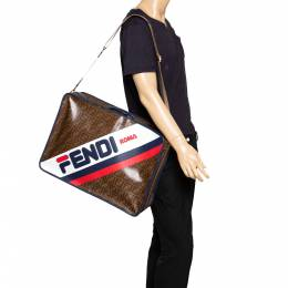 Fendi Zucca Coated Canvas and Leather Mania FF Suitcase 294221