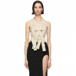 Ann Demeulemeester Off-White Knitted Fera Top 2001-2634-250-002