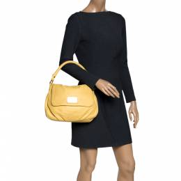 Marc by Marc Jacobs Yellow Leather Classic Q Lil Ukita Top Handle Bag 294901