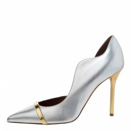 Malone Souliers Silver/Gold Leather Morrissey Pumps Size 39 295822