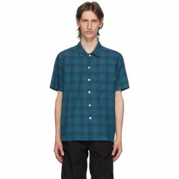 PS by Paul Smith Blue and Black Camp Plaid Shirt M2R-832T-E20925