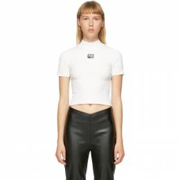 T by Alexander Wang White Logo Patch T-Shirt 4KC2191008