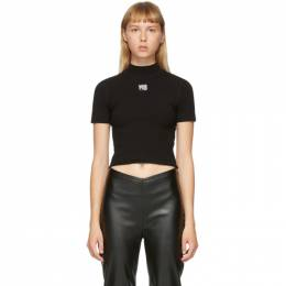T by Alexander Wang Black Logo Patch T-Shirt 4KC2191008