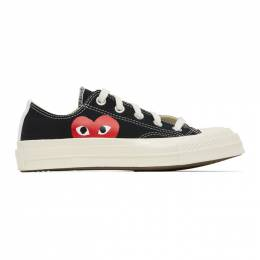 Comme des Garcons Play Black Converse Edition Half Heart Chuck 70 Low Sneakers K111