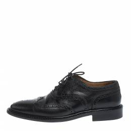 Burberry Black Brogue Leather Rayford Wingtip Derby Size 40 296037