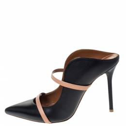 Malone Souliers Black Leather Maureen Mules Size 37.5 296302