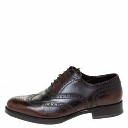 Dsquared2 Brown Brogue Leather Lace Up Oxfords Size 40 296347