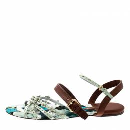 Louis Vuitton	 Two Tone Patent Leather And Leather Flat Sandals Size 39.5 209466