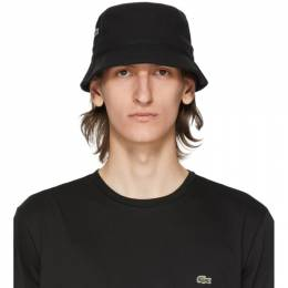Lacoste Black Cotton Bucket Hat RK4712-52