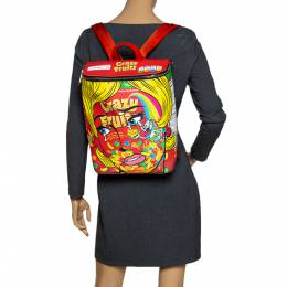 Moschino Multicolor Eyes PVC Capsule Backpack 296623