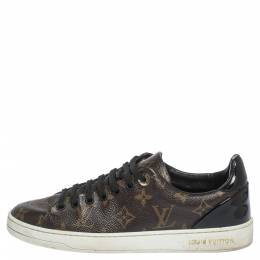Louis Vuitton	 Monogram Canvas And Leather Trim Frontrow Low Top Sneakers Size 36.5 297487