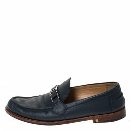 Louis Vuitton Blue Leather Major Loafers Size 44.5 299400