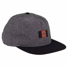 Бейсболка Independent Banner Adjustable Strap Hat Black Chambray 2020 0659641885240