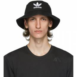 Adidas Originals Black and White Trefoil Bucket Hat BK7345