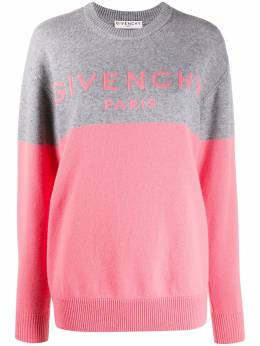 Givenchy colour block logo cashmere jumper BW90AE4Z7H