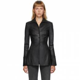 Alexander Wang Black Fitted Leather Shirt 1WC2202229