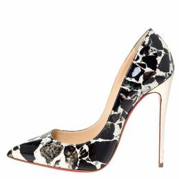 Christian Louboutin Multicolor Patent Pigalle Follies Pointed Toe Pumps Size 39 302984