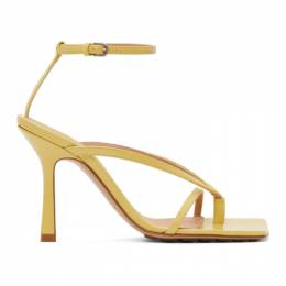 Bottega Veneta Yellow Stretch Sandals 608835 VBSF0