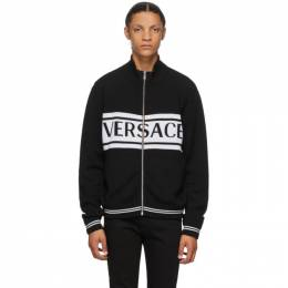 Versace Black and White Logo Sweater A86956 A235922