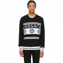 Versace Black and White Vintage Medusa Sweater A86467 A235922