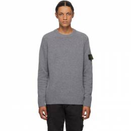 Stone Island Grey Wool Crewneck Sweater 7315552A3