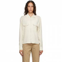 Lemaire Off-White Zipped Shirt W 201 SH252 LF387